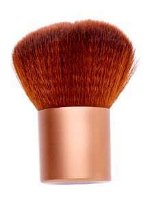 Cepillo de polvo de base de maquillaje coméstico - dorado
