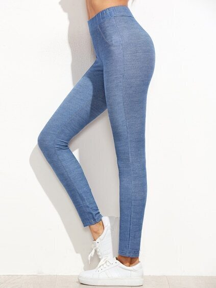 Demim Leggings-blau