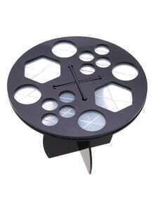 Black Round Makeup Brush Display Holder With 14 Holes