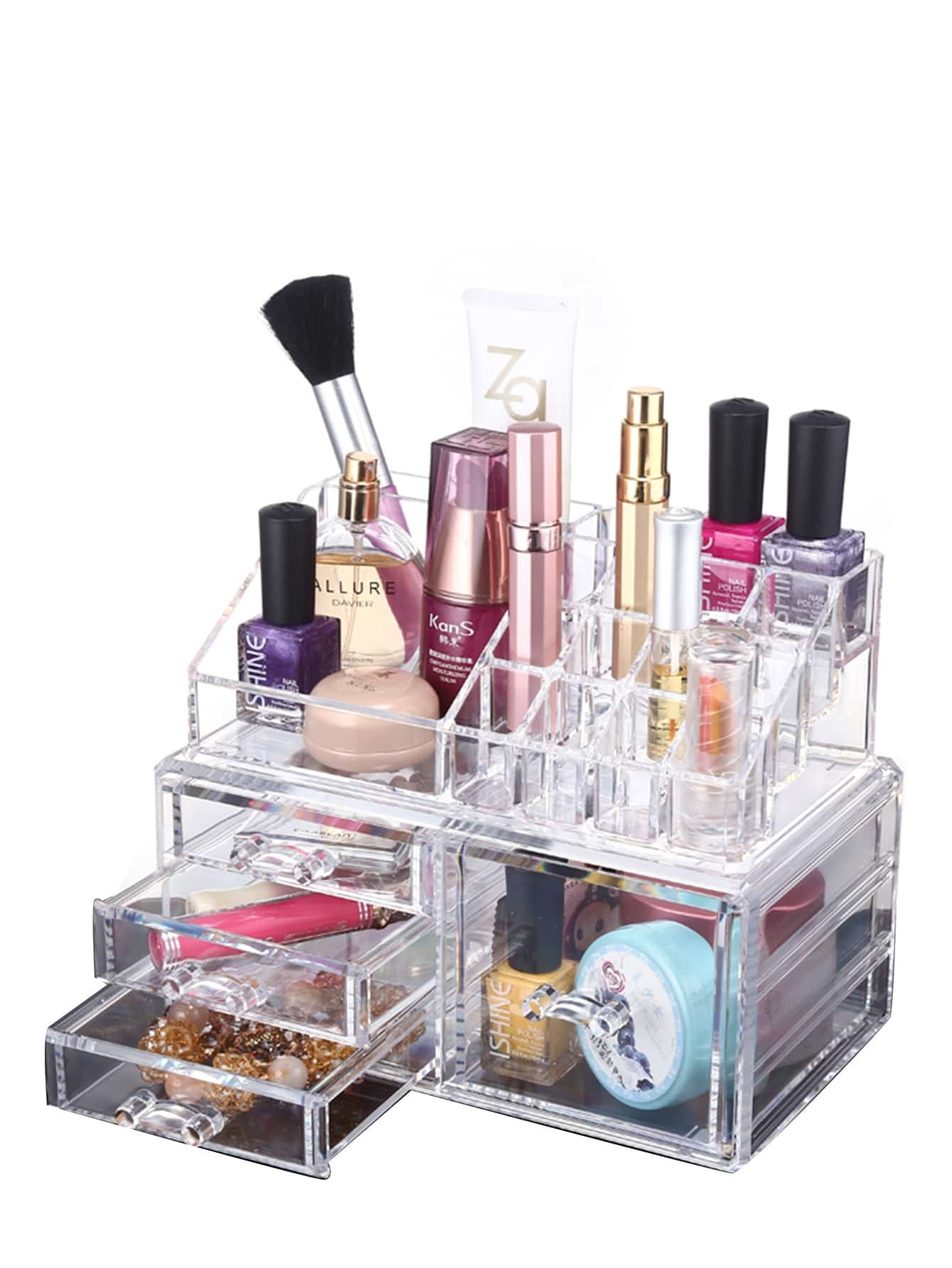Acrylic Drawer Makeup Organizer Beauty Storage