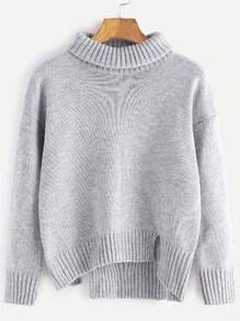 Jersey asimétrico con hombro caído - gris