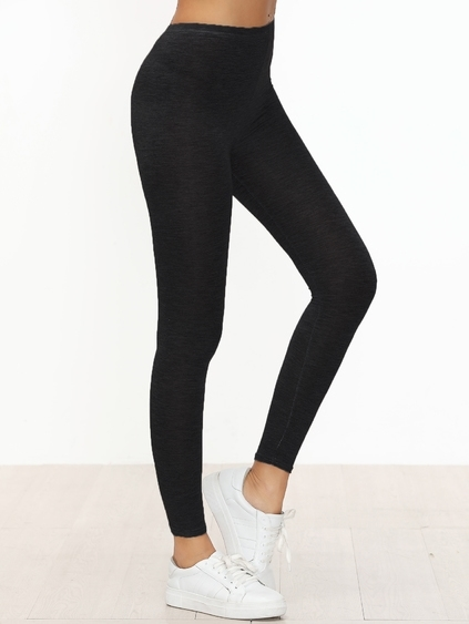 Leggings skinny casual - negro