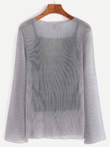 Veste transparent avec gilet collant - gris