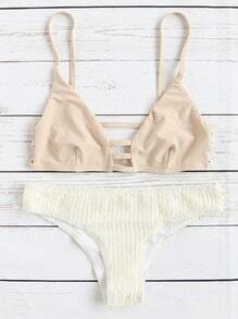 Bikini Set mit Cut-Outs Detail-aprikose