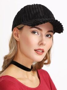 Gorra de pana - negro