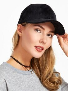 Plain Velvet Warm Baseball Cap