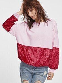 Sweat-shirt contrasté lâche - bicolore