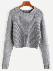 Jersey corto de manga raglán - gris