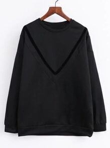 Black Drop Shoulder Sweatershirt