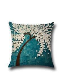 Contrast Color Oil Plainting Minimalist Pillowcase Cover