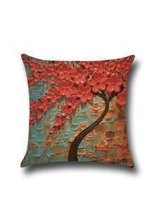 Impressionism 3D Oil Plainting Linen Pillowcase Cover