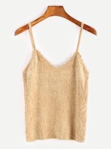 Light Khaki Tight Knit Cami Top