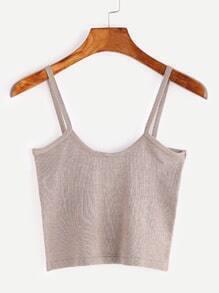 Tight Knit Crop Cami Top