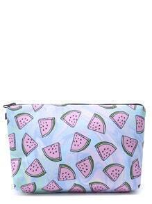 Watermelon Print Casual Makeup Case