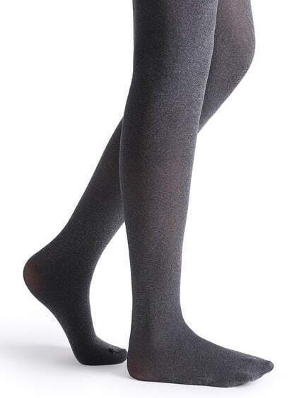 Black Marled Knit Tights