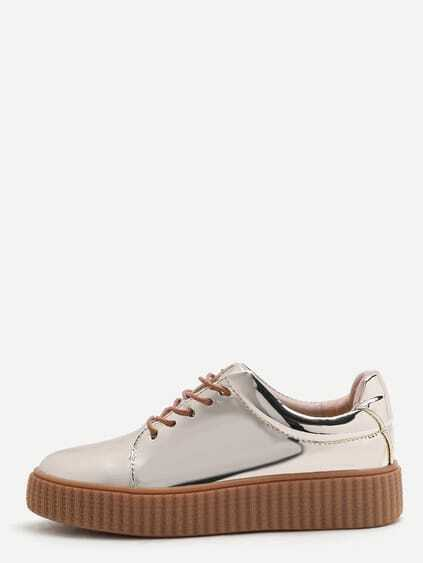 Sneakers Lackleder -gold