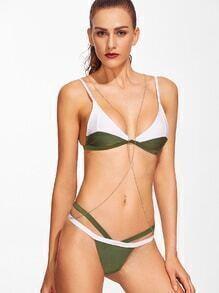 Collection de bikini triangle color-block