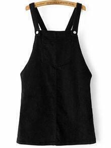 Pichi de pana con bolsillo - negro