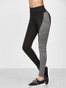 Leggings cintura alta - color block