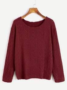 Jersey de manga larga con textura - borgoña