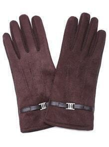 Brown Non-slip Suede Leather Gloves