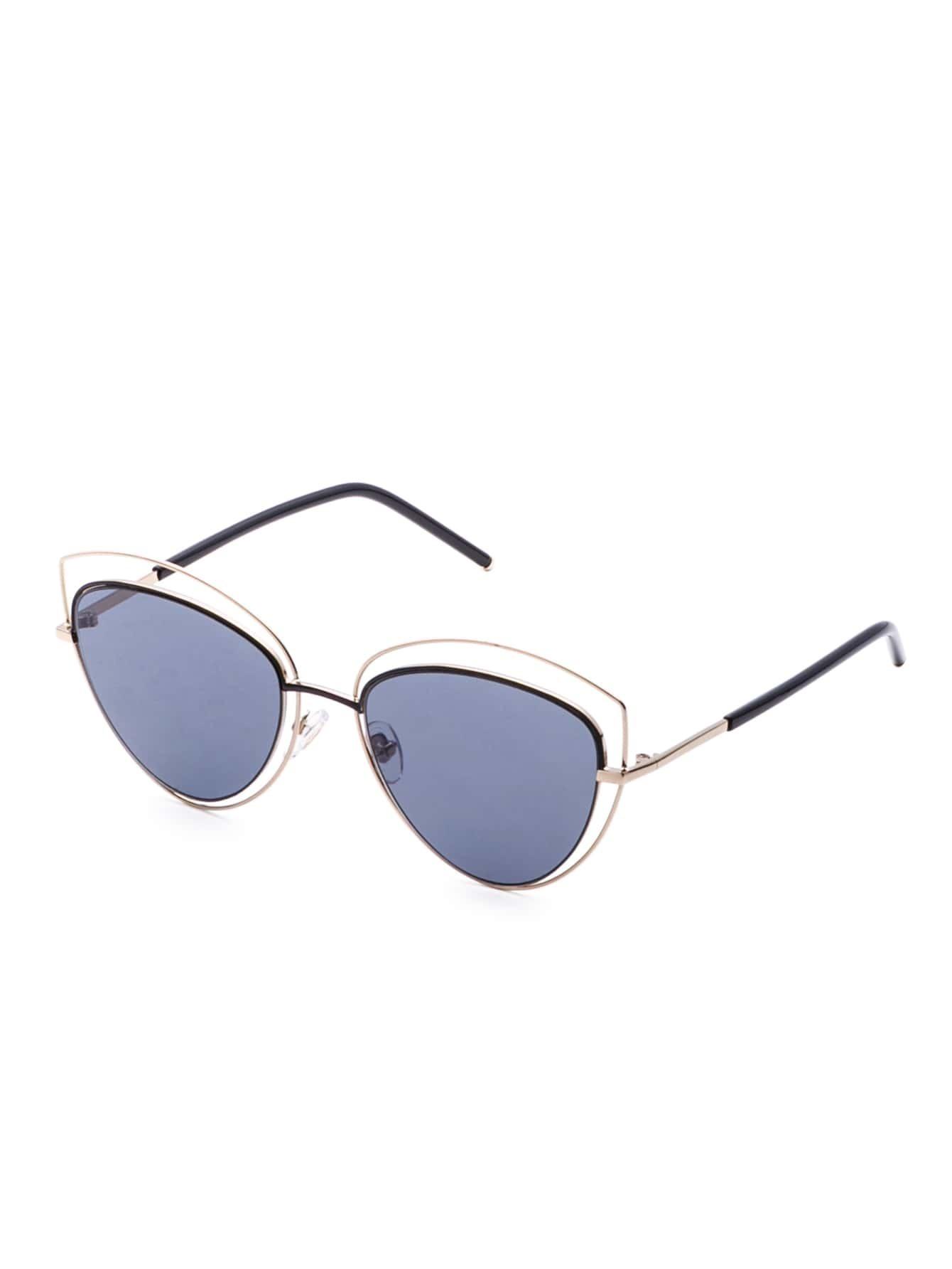 Gold Frame Cat Eye Sunglasses : Gold Frame Smoke Lens Cat Eye Sunglasses