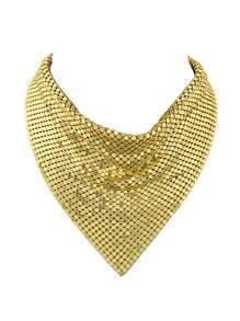 Collar grueso brillante - dorado