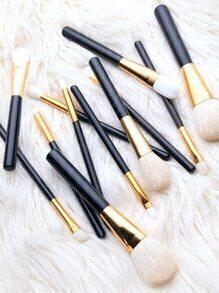 Set de brochas maquillaje 12PCS - negro