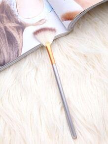 Brocha maquillaje en forma abanico