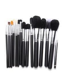 Set de brochas de maquillaje 15PCS - negro