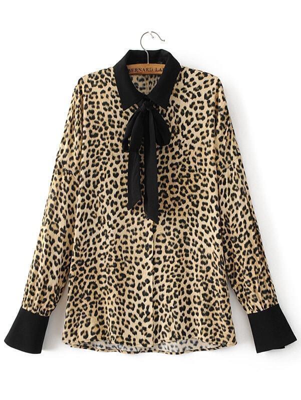 Блузка С Леопардовым Принтом В Омске