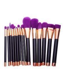 Set de brochas de maquillaje 15PCS - violeta