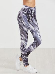 Printed High Waist Stretch Leggings