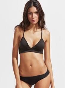 Top bikini sexy triángulo - negro