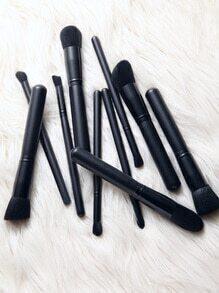 Set de brochas de maquillaje 10CS - negro
