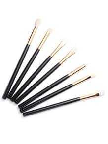Pinceau de maquillage professionnel 7pcs -noir et doré