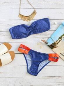 Sets de bikini color block - azul