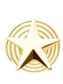 Clip para el pelo en forma de estrella - dorado