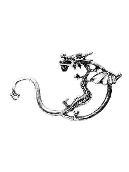 Silver Dragon Retro Ear Cuff 1PC