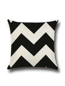 Black And White Chevron Print Pillowcase Cover