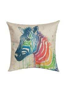 White Horse Print Pillowcase Cover