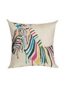 White Zebra Print Pillowcase Cover