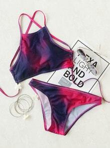 Ensemble bikini Ombre Cross Back