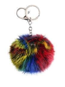 Multicolor Pom Pom Keychain