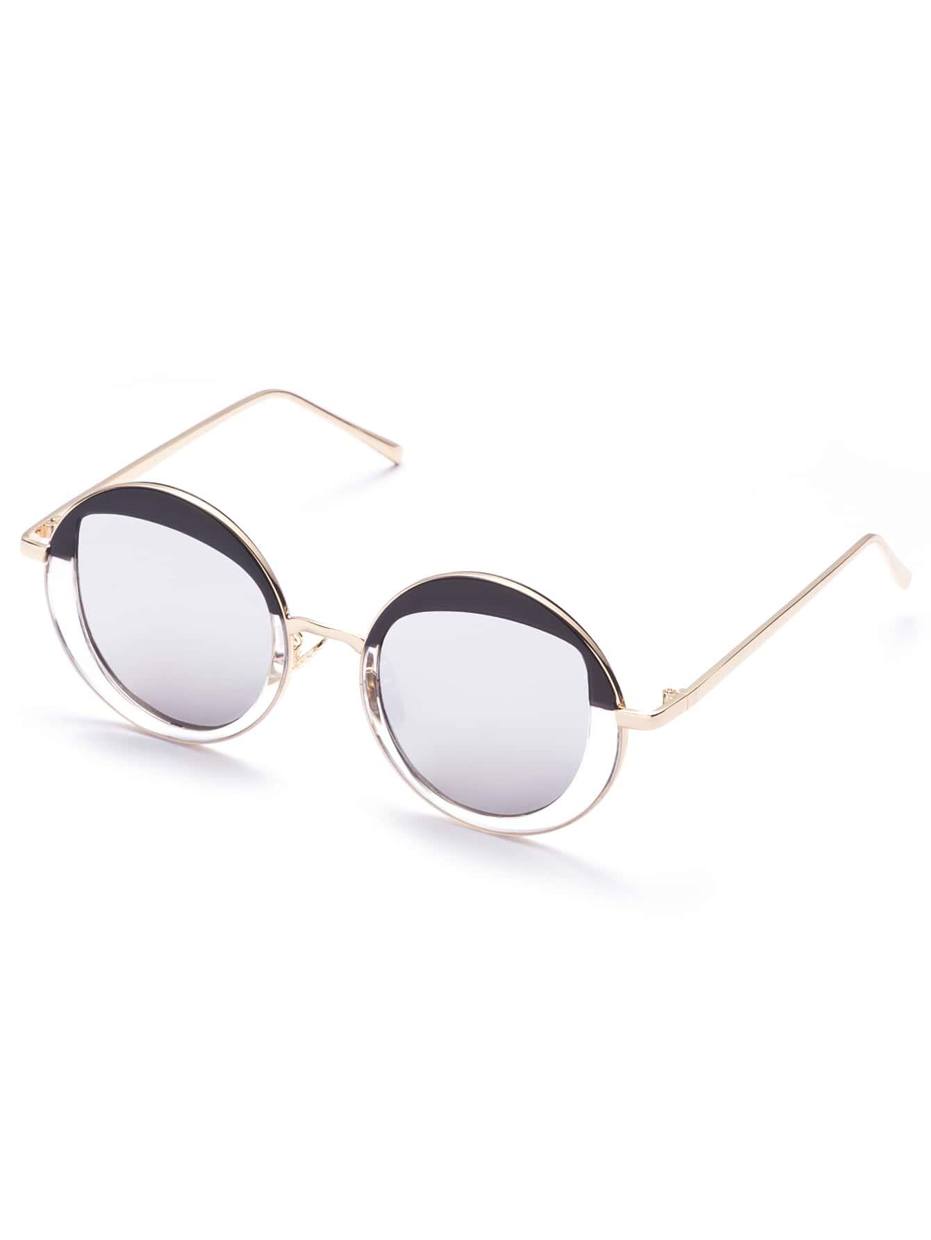 Gold Frame Chic Round Sunglasses