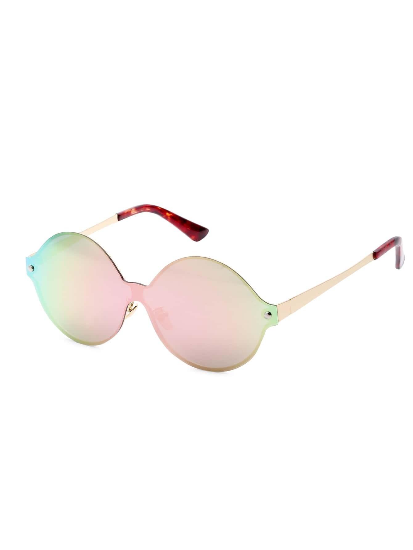 Pink Lens Round Design Sunglasses