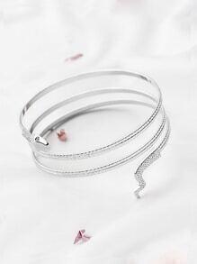 Silver Snake Coil Bracelet