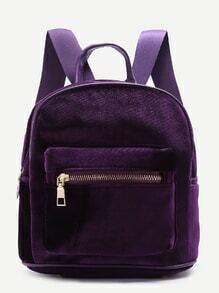 Sac à dos en velours violet
