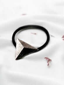 Silver Metal Triangle Hair Tie