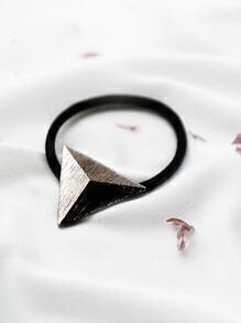 Coletero triángulo de metal - plateado